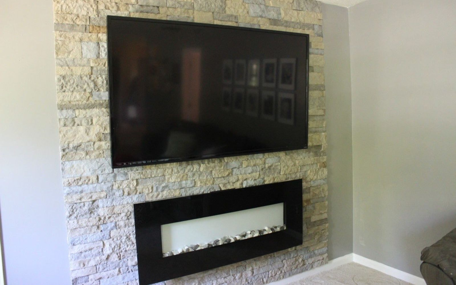 s 15 ways to make your home decor look like you spent hundreds, Apply Veneer Stone Accents To Your Wall