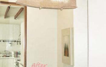 DIY Rollup Burlap Window Shade