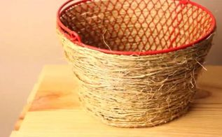 diy pottery barn basket only 2 from dollar tree products, 2 Pottery Barn Look Alike Basket