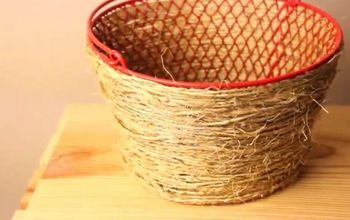 DIY Pottery Barn Basket - Only $2 From Dollar Tree Products!