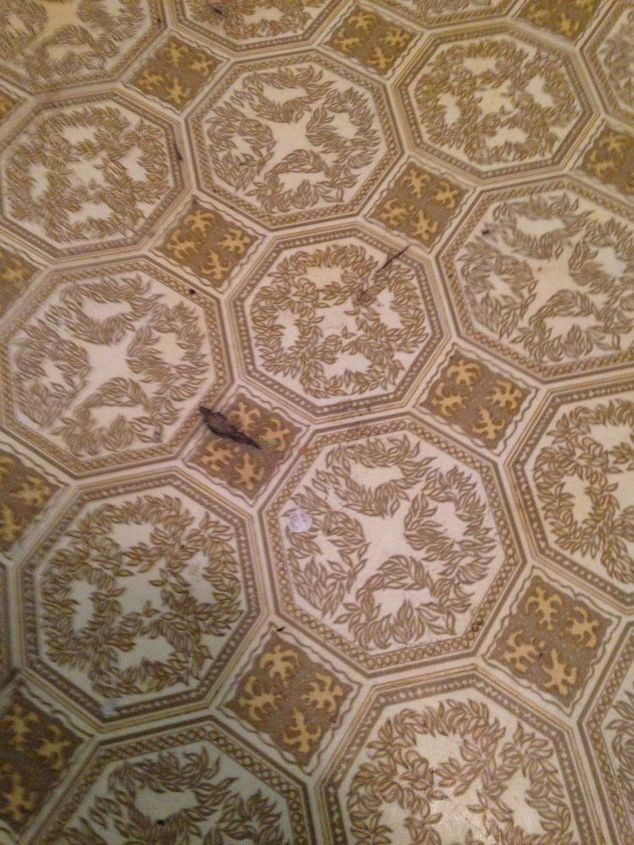 q how can you cover an outdated linoleum when you rent house