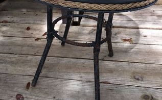don t throw your rusty patio table away make it multifunctional
