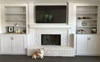 Brick Fireplace Makeover - Going White!