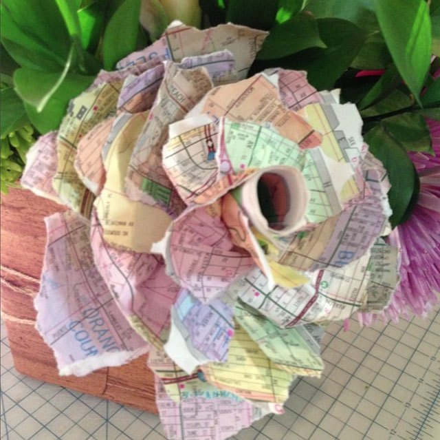 Paper roses made out of phone book pages hometalk paper roses made out of phone book pages mightylinksfo