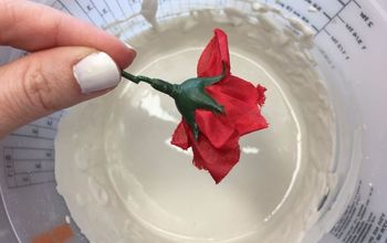 dollar store flower dipping technique