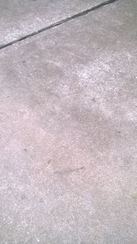 q cleaning concrete walk and driveway