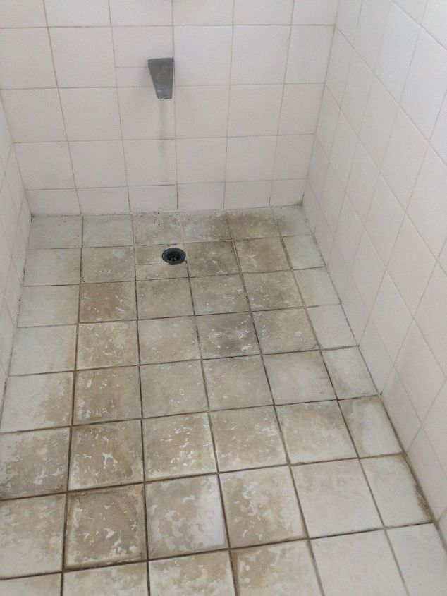 What Can I Do To Resurface These Bathroom Shower Floor Tiles Easily