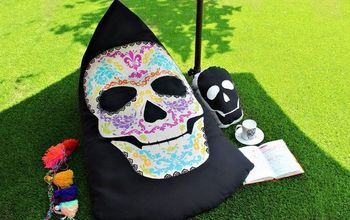 sugar skull beanbag chair