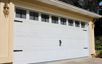 Faux Windows in Garage Door