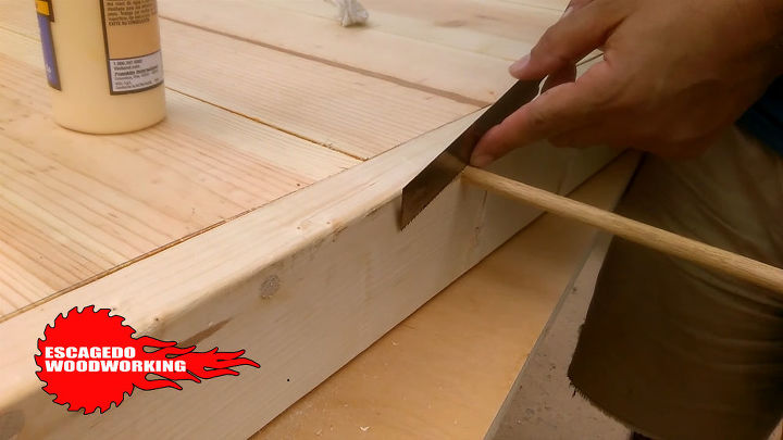Dowels to cover up screw holes
