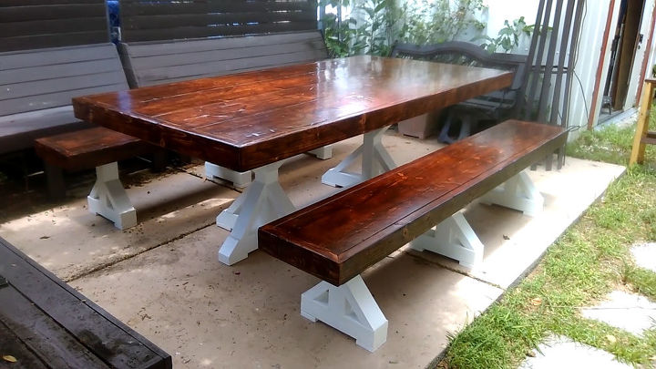 Farmhouse table project