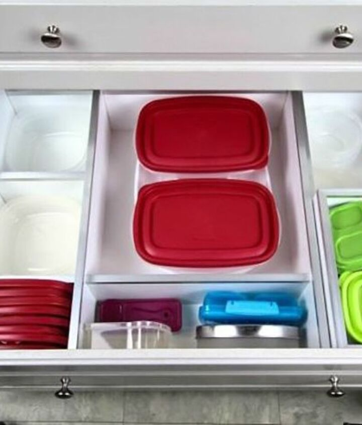 s 11 storage hacks that will instantly declutter your kitchen, Turn your drawers into organizers