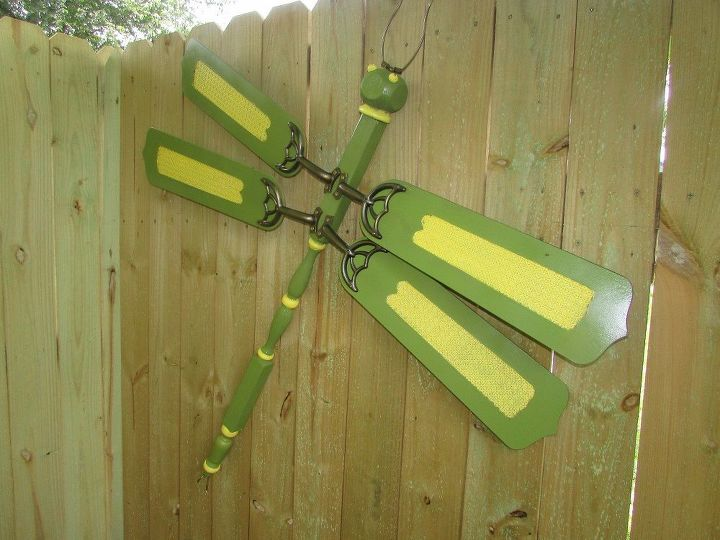 how to make a dragonfly out of ceiling fan blades