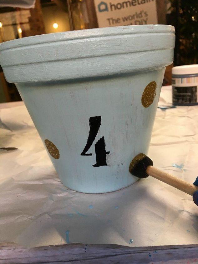 house address terra cotta pots