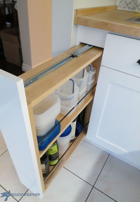 s post, Turn a filler panel into a pull out cabinet