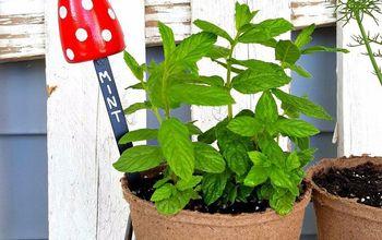 DIY Toadstool Herb/Plant Markers
