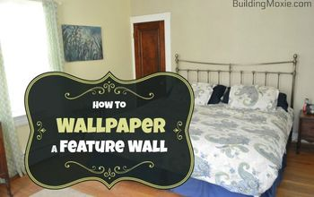 Hanging Wallpaper on a Feature Wall :: A Fix for Troubled Plaster