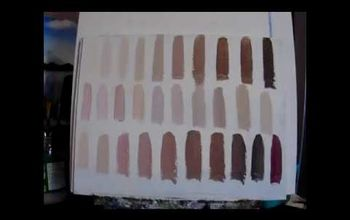 How to Paint SKIN TONES  With Acrylic Paint for the Beginner.