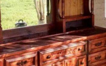 dresser hutch makeover