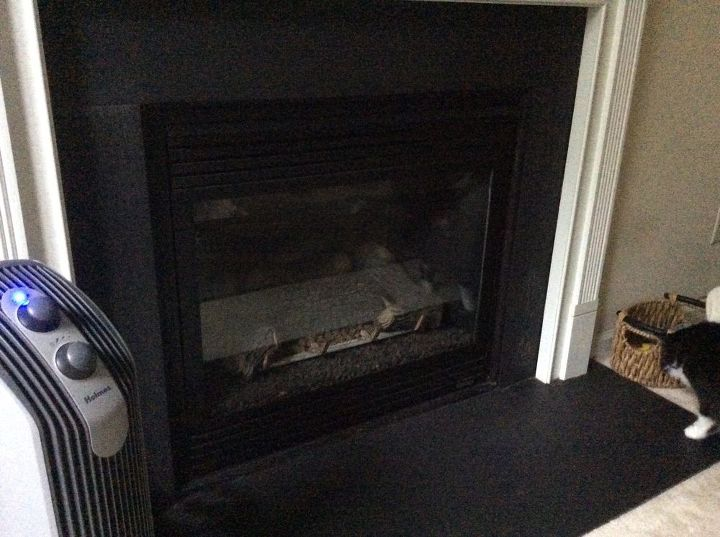 q what can i do with a worn and dated slate fireplace