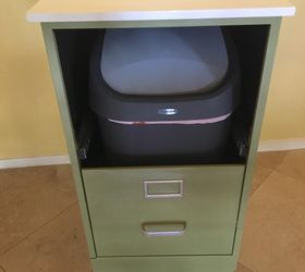 Perfect Old Metal File Cabinet Makeover
