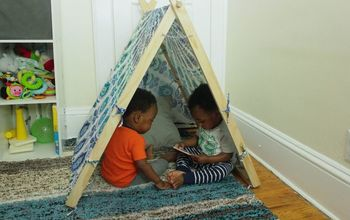 DIY TeePee Tent for Kids or Pets!