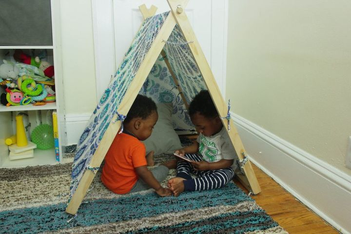 diy teepee tent for kids or pets