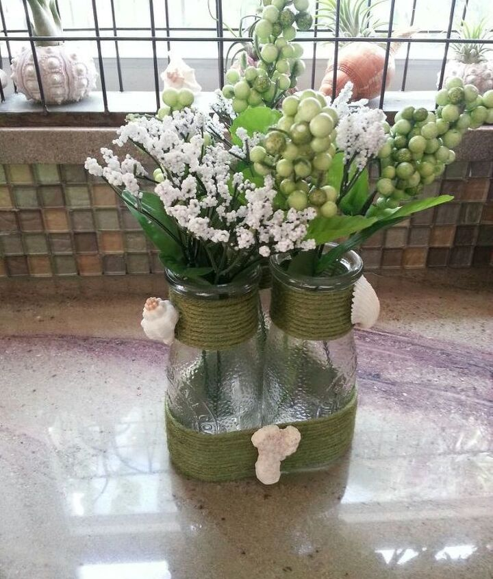 s 31 coastal decor ideas perfect for your home, Make A Vase Out Of Bottles
