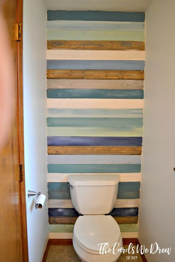s 31 coastal decor ideas perfect for your home, Build A Coastal Colored Planked Wall