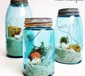 craft a beach memory jar with seaweed