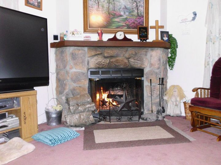 q we have a stone fireplace i want to redo suggestions please