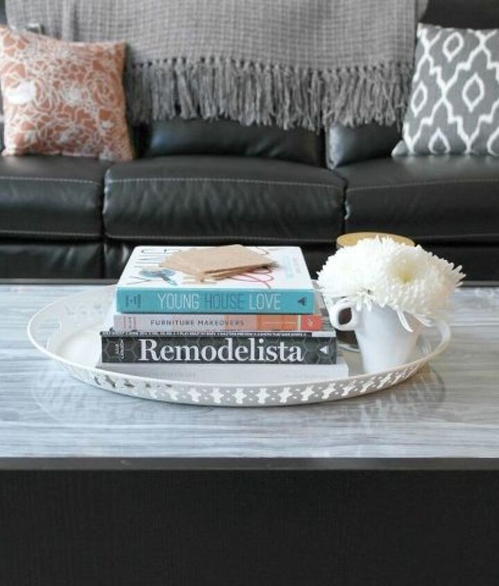 s 31 astounding things you didn t know you could do with contact paper, Make your IKEA coffee table look upscale