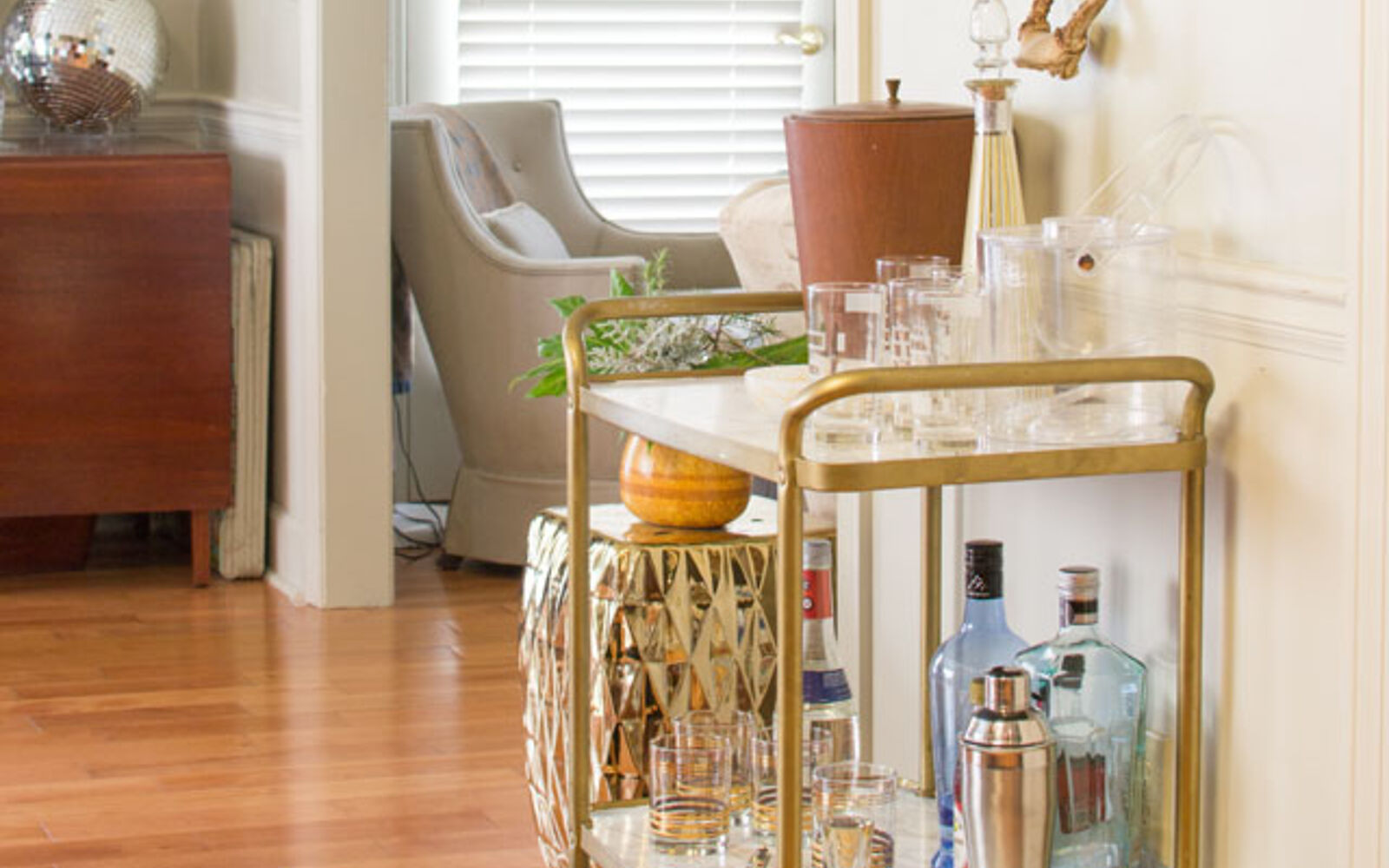 s 31 astounding things you didn t know you could do with contact paper, Glam up your old bar cart