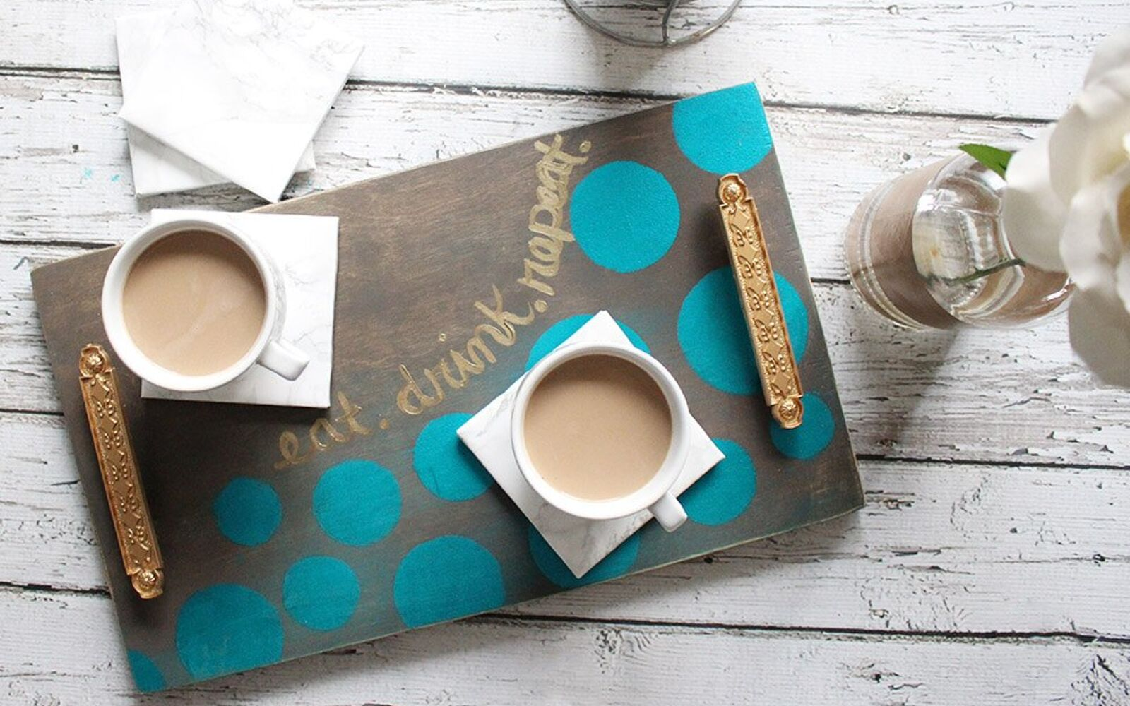 s 31 astounding things you didn t know you could do with contact paper, Marble your coasters with contact paper