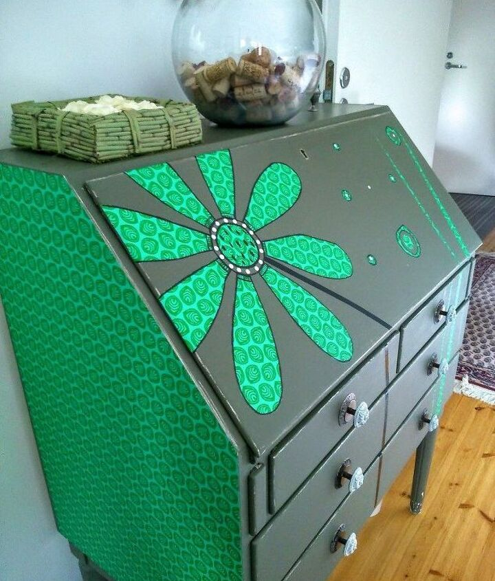 s 31 astounding things you didn t know you could do with contact paper, Embellish your writing desk