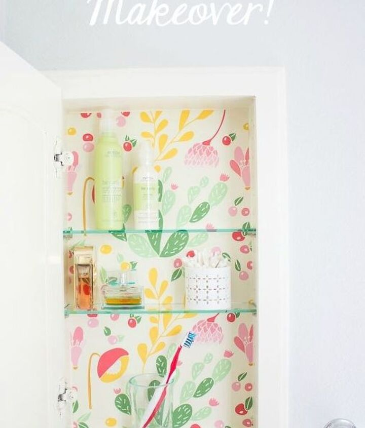 s 31 astounding things you didn t know you could do with contact paper, Refresh your medicine cabinet