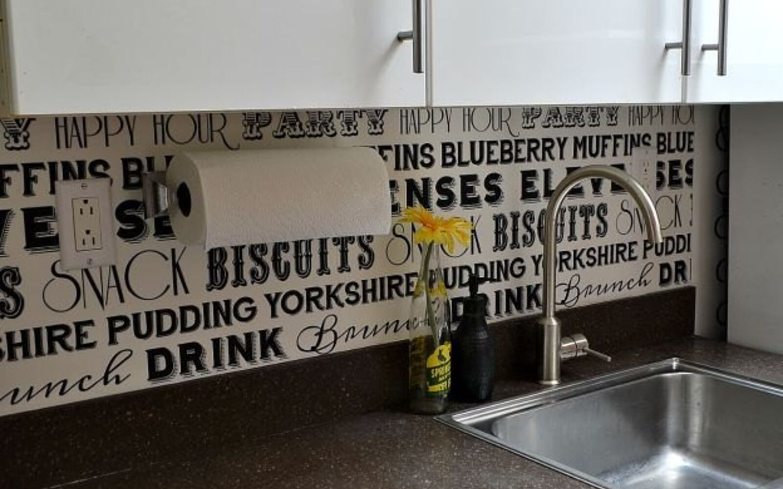 s 31 astounding things you didn t know you could do with contact paper, Update your backsplash with a removable print