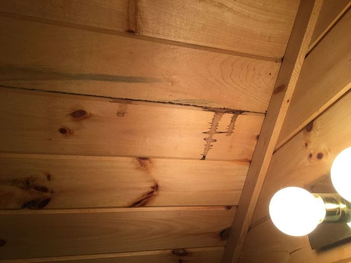 q how can i clean flying squirrels urine off wood ceiling