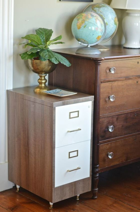 s 31 astounding things you didn t know you could do with contact paper, Flip your file cabinet into a stunning piece