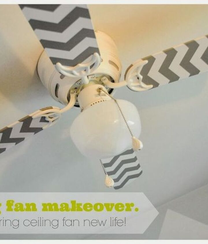 s 31 astounding things you didn t know you could do with contact paper, Transform your ceiling fan into a work of art