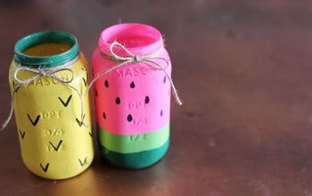 DIY Mason Jar Dollar Store Craft