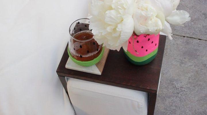diy watermelon drinking glasses