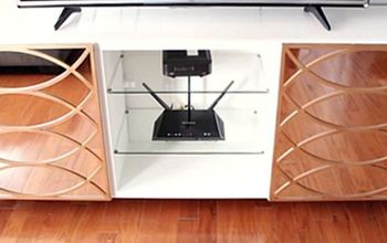 easy steps to glam up your tv stand with mirrors huge difference