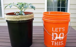 transform a 5 gallon bucket into a tomato planter