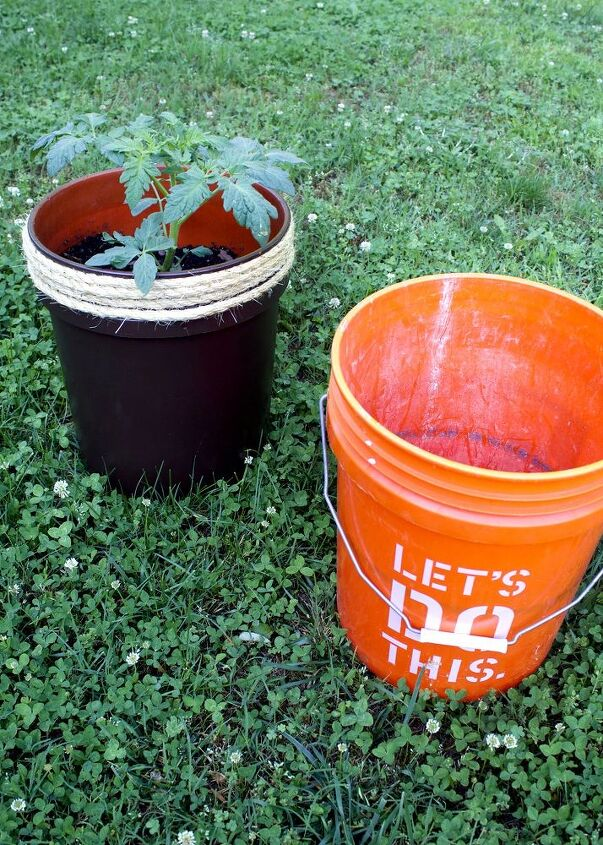 transform a 5 gallon bucket into a tomato planter - 5 Gallon Bucket Garden