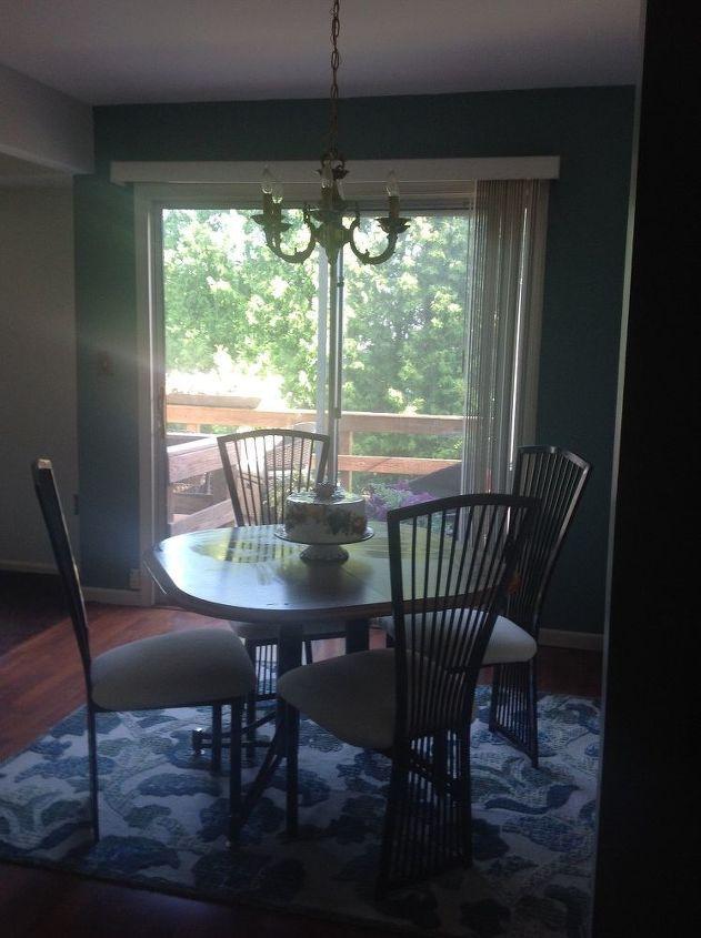 Q Dining Room Sliding Glass Door Curtain Rod Ideas Needed