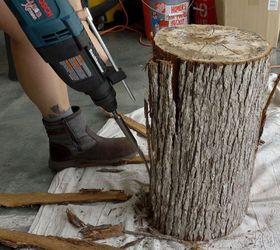 Rustic Stump End Tables Hometalk