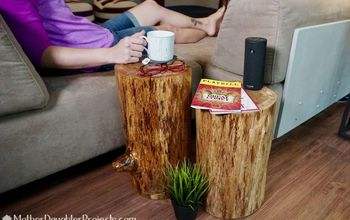 rustic stump end tables