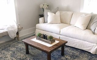 farmhouse living room makeover with before and afters