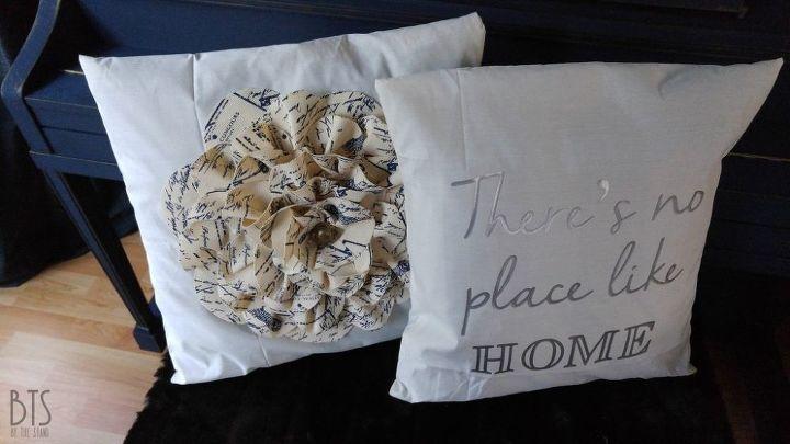 diy flower fabric pillow